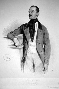 Eduard van der Nüll, Lithographie von Josef Kriehuber, 1851 Van, Drawings, Military Uniforms, Fictional Characters, Victorian, Paintings, Paint, Painting Art, Sketches