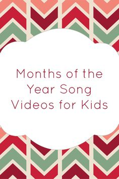 Help kids learn the months with these fun months of the year song videos.