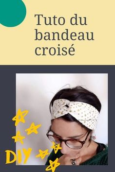 [DIY] O tutorial da faixa cross hair - Miss Farfalle Turban Headbands, Diy Headband, Elastic Headbands, Coin Couture, Couture Sewing, Bandanas, Crochet Hair Styles, Fukushima, Diy Hairstyles
