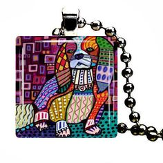 Cavalier Dog Jewelry Pendant Necklace Dog Art by HeatherGallerArt, $28.00