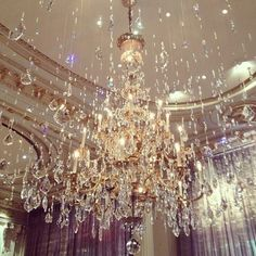 Showering sparkles... That ceiling too