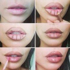 Quer ficar com lábios da Kim Kardashian?? Essa dica é bem mais simples e sem riscos não é?? Bora tentar ?? #lipstick #lip #kimkardashian #k #kim #makeup #make #tips #love #lovely #instafashion #instagood #goodideas