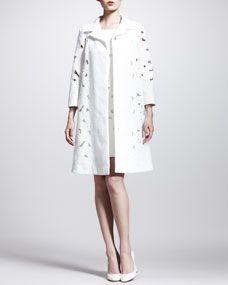 Dolce & Gabbana Brocade Lace Swing Coat and Cap-Sleeve Minidress