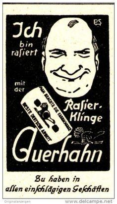 Original-Werbung/ Anzeige 1925 - RASIERKLINGE AUERHAHN - ca. 30 x 55 mm