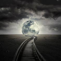 board walk to the moon