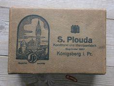 Königsberg S.Plouda Konditorei und Marzipanfabrik - Ideal auch für Postkarten