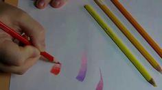 degradé aux crayons de couleurs