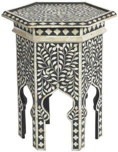 Tabla Zodax Barclay Butera Marrakech hueso embutido Acento
