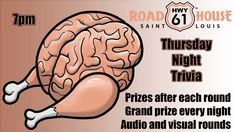 Join us every Thursday evening for Trivia, starting at Prizes after each round Grand Prize every night Audio and visual rounds Thursday Night, Live Music, Trivia, St Louis, New Orleans, Audio, Join, Events, Happenings