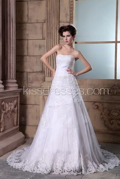 Exudes elegance Scooped neckline with Imported Lace wedding gown