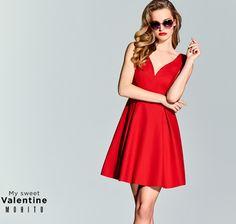023900d093 Karolina Pisarek dla Mohito - walentynki 2016 wiosna lookbook ss2016 red  dress My Sweet Valentine