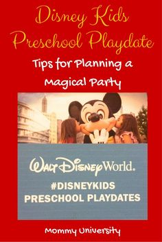 Tips for Planning a Disney Kids Preschool Playdate if you are looking for some quick and helpful suggestions to plan a Disney party then check out this list by Mommy University Disney Diy, Disney Trips, Disney Love, Walt Disney, Activities For Kids, Learning Activities, Kids Learning, Disney Magic Kingdom, Disney World Planning