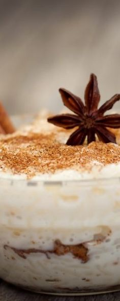 How to Make Rice Pudding Spiced Rice, Fun Desserts, Cinnamon, Spices, Milk, Pudding, Warm, Dishes, Baking