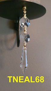 """Up for auction is  a SET / LOT of 06 AAA Magnetic Teardrop Icicle Crystals  Featuring :  .  A Lot of 06  AAA Crystal Glass Prism, each includes one piece of 38mm (1 1/2"""") Long Teardrop Prism Multi Faceted and a Double 14mm Octagon Bead.  . Total measurement is 3 3/4""""(With Bow-tie Connectors) and 3 1/2"""" (With Ring Connectors).  . Crystal Color = CLEAR.  . AAA quality Crystals, super CLEAR,  very Sparkly !    $18 Tie Styles, Chandelier Lighting, Silver Color, Fashion Rings, Magnets, Charms, Wedding Decorations, Silver Rings, Bow"""