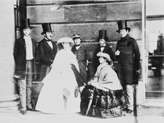Group photograph of Queen Victoria, Prince Albert, Albert Edward, Prince of Wales, Count of Flanders, Princess Alice, Duke of Oporto, and King Leopold I of the Belgians, 1859   Royal Collection Trust