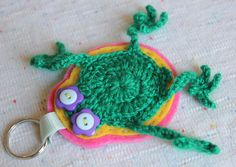 LUCKY FROG KEYCHAIN by lepemalestvari on Etsy Etsy Store, Crochet Necklace, Wool, Christmas Ornaments, Holiday Decor, Crochet Collar, Christmas Jewelry, Christmas Ornament, Christmas Baubles