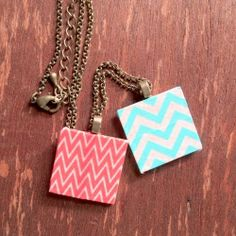 3 quick washi tape DIY's, including a necklace & cute clothespins.