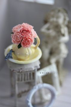 Dollhouse miniature flowers- Moonlight by CheilysMiniature on Etsy