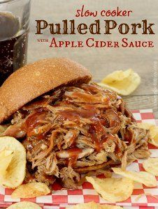 Apple Cider Pulled Pork | AllFreeSlowCookerRecipes.com