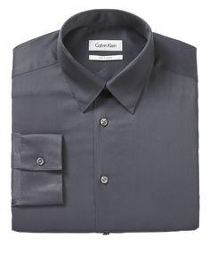 Calvin Klein Dress Shirt, Slim Fit BODY Solid - Mens Dress Shirts - Macy's