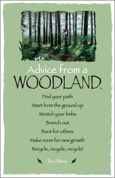 Advice from a Woodland...