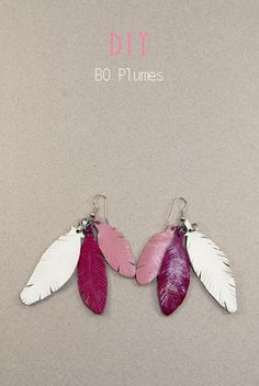 History of Earrings Feather Jewelry, Feather Earrings, Beaded Earrings, Diy Crafts Jewelry, Clay Jewelry, Bijoux Diy, Fantasy Jewelry, Leather Accessories, Jewelry Trends