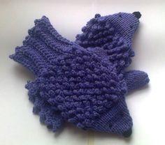 Hand knit hedgehog mittens gloves.. 24.00, via Etsy.