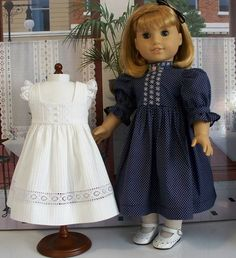 Victorian/Edwardian Styles design by Eve Coleman of Keepers Dolly Duds to fit American Girl Dolls Samantha and Nellie Sewing Doll Clothes, American Doll Clothes, Doll Clothes Patterns, Girl Doll Clothes, Girl Dolls, American Girl Doll Samantha, American Girls, Girl Dress Patterns, Beautiful Dresses