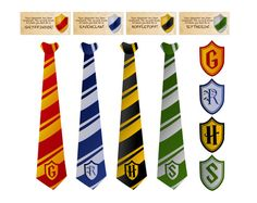 Wizard Ties & Badges Foldable Templates Harry Potter by Printyca