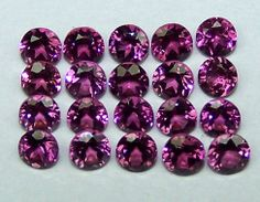 Masterpiece Natural African Hot Pink Garnet Rhodolite 3 MM Cut 5 Piece Round AAA