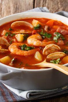 Spanish fish soup – Famous Last Words Shrimp Recipes, Fish Recipes, Soup Recipes, Healthy Recipes, Salmon Recipes, Shrimp Casserole, Casserole Dishes, Casserole Recipes, Vegetable Soup Healthy