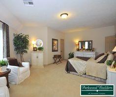 Gorgeous secondary bedroom in the Villa Nova model home.