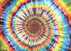 Rainbow Spiral TieDye Tapestry by MadebyFreaks on Etsy, $35.00