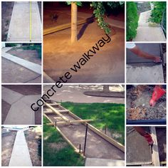 Concrete Sidewalk or Pavement. PERFECT INSTRUCTIONS FOR EDGING!