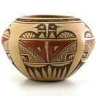 Hopi Pueblo Pottery - Elva Nampeyo - Hopi Polychrome Jar with Bird Pictorials