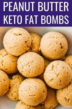 These Peanut Butter Fat Bombs are amazing no bake treats! Only THREE ingredients are needed, no special equipment, and it's super easy and simple to make. They taste like frozen PB cheesecake bites, thanks to the cream cheese. It's easy to add other flavors like chocolate. Enjoy them as healthy desserts or snacks; they're sugar free, great for anyone on keto, low carb, Lchf, or gluten free. #healthy #healthyrecipes #lowcarb #keto #ketorecipes / clean eating / food / valentines day