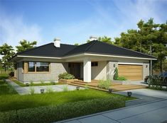 Zdjęcie projektu Nela IV WRP1615 Florida House Plans, Florida Home, Contemporary House Plans, Modern House Design, Facade House, Interior Exterior, Architect Design, Home Fashion, Curb Appeal