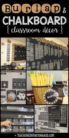 Teaching in the Tongass: Burlap and Chalkboard Bulletin and Classroom Decor
