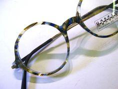 84226c8764 1980 s French Round Blue Gray Blonde Tortoise Vintage Eyeglass Frames  France Morgan Eyeglasses