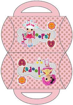 Lalaloopsy en Rosa: Cajas Almohada para Imprimir Gratis.