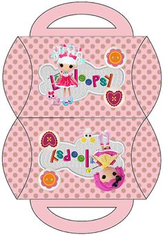 Lalaloopsy in Pink: Free Printable Pillow Box.