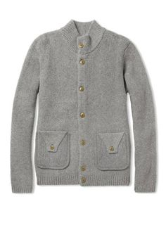 THE CARDIGAN  Chunky cardigans are a wish list (and wardrobe) essential. Folk Textured Knit Merino Wool Cardigan