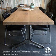 Mooie eettafel #industrial #tafel #landelijketafel #industrial_design