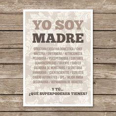 Image of Lámina Yo Soy Madre...
