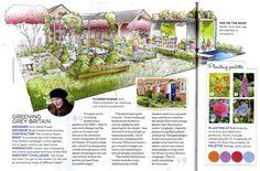 Ann-Marie Powell's Greening Grey Britain Garden featured in a Chelsea Flower Show special in @gardenanswers magazine