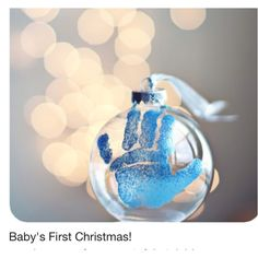 Baby's first Christmas ornament idea