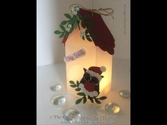 Santa Bird House Luminaire Tutorial - Stampin' Up! UK - YouTube
