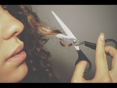 CUT CURLY HAIR AT HOME - YouTube