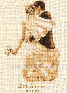 Buy Private Moment Wedding Sampler Cross Stitch Kit online at sewandso.co.uk