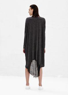Raquel Allegra Oversized Dress (Black)